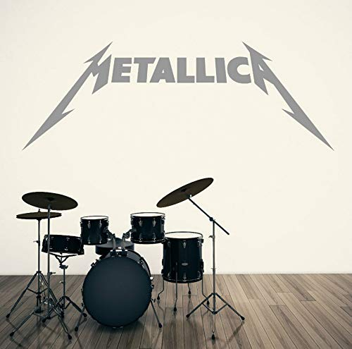 Wuyyii Logo Vinyl Wall Stickers For Kids Room Art Sticker Music Decal Heavy Metal Rock Band Home Decoration Wall Decals 57X20Cm