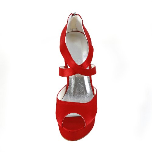 Jia Jia Wedding 201121 Scarpe Sposa Scarpe col tacco donna Rosso