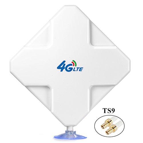 TS9 4G Hochleistungs LTE Antenne 35dBi Wifi Signal Booster Verstärker Modem Adapter Netzwerk Empfänger Antenne mit hoher Reichweite für Mobile Hotspots (TS9 Stecker Male) (Vakuum-verstärker)