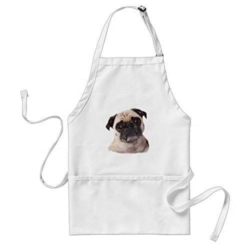 Professional Chef schürzen für Frauen niedlichen Mops Hund Küche Schürze Commercial Restaurant Home Unisex Schürzen Weiß Hals Taille Schleifen verstellbar
