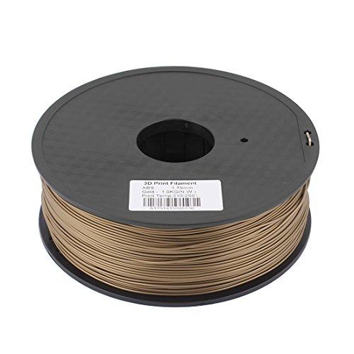Preisvergleich Produktbild sourcingmap® Goldton 1,75mm ABS 1kg/2,2lb 3D Drucker Filament für RepRap Makerbot de