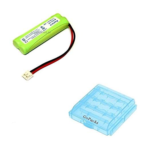 Gopacks Akku für Telefon ALDI Medion Tevion Life X63016 MD83430 DECT + Akku/Batterie Box für 4x Micro/Mignon (AAA/AA) Zellen Batterie Ersatzakku Accu Battery Bateria Akkubatterie