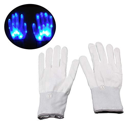 es, LED Skeleton Hand Glove Flashing Gloves Aktivieren Die Atmosphärenbeleuchtung Für Clubs/Raves/Festivals/Theme Party - 5 Farben ()