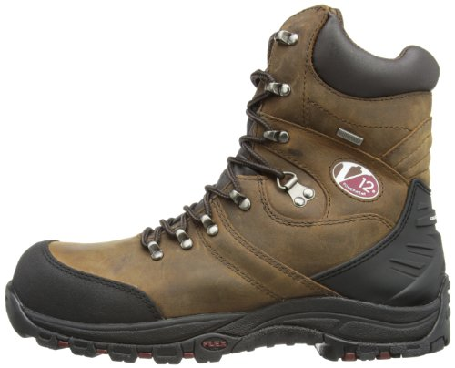V12 Rocky, Zip-Sided Waterproof Safety Hiker, 12 UK 47 EU, Brown Braun (Brown)