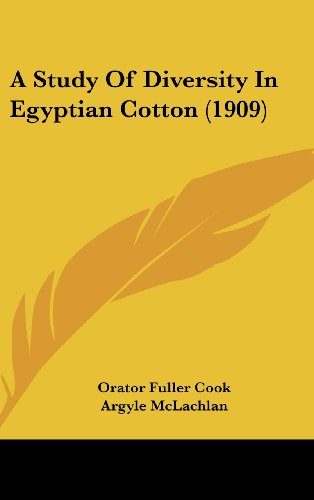 A Study of Diversity in Egyptian Cotton (1909)