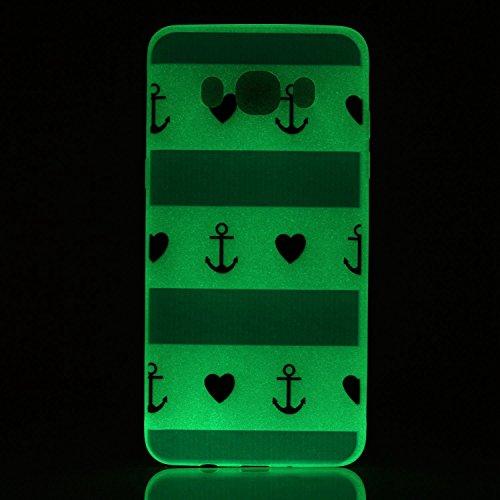 Cover per iPhone 5s Custodia Protettiva TPU Verniciato Guscio Luminoso,TOCASO Case per iPhone 5/5s Custodia Trasparente TPU Shock-Absorption Cover Ultra Slim Cassa Molle del Silicone Ultra Sottile Cop A#6