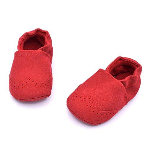 Ouneed® Baby Toddler Infant Newborn Prewalker Boots Tassel Shoes Soft Sole (13, Rose vif) Rouge