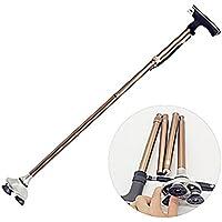 JJH-ENTER Ancianos muletas antideslizante plegable ultra ligero aleación de aluminio de cuatro patas luces viejo palos palos viejos, A