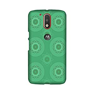 Abaci designed Moto G4 Mobile Backcover with Perfect Matte finishing and Geometrical Pattern design(Green)