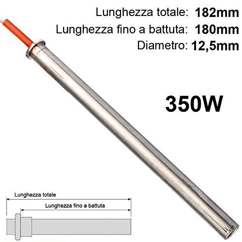 Easyricambi Zündkerzen für Heizung Pelletofen 350 W lang 185 mm und 180 zur Battette für THERMOROSSI