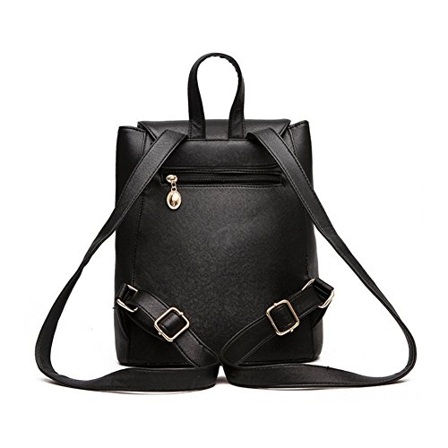 Neue Frauen und Girl'sBackpack Mode Schultertasche Rucksack Synthetik Leder Reisetasche Lila