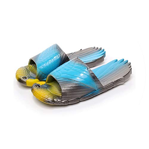 Summer Soft Slippers Creative Funny Parrot Slippers Outdoor Beach Sandal Children Flat,Blue,39 Childrens Place Jeans
