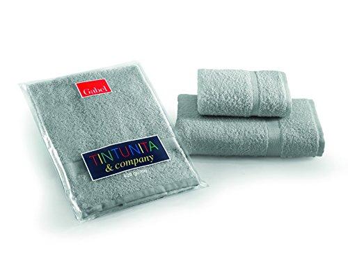 ^ Gabel Set Asciugamano con Ospite, Tinta Unita, 100% Cotone, Grigio confronta il prezzo