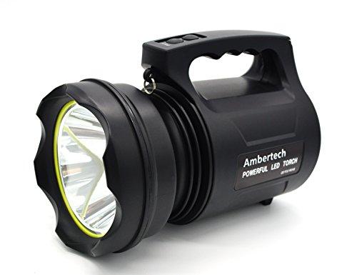 Ambertech 10000 Lumens Lanterne robuste Torche LED puissante Lampe de poche rechargeable Projecteur extérieur super brillant