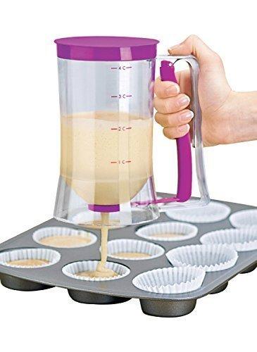 Gearmax® Batter Dispenser cuociono l'attrezzo 900ml Capacità Pancakes Muffin Cupcakes Pastry Jug pratica di plastica