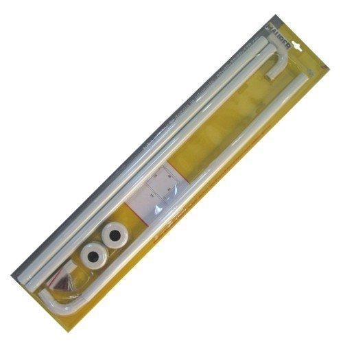Maurer 4042202 Barra P/CORT.Ducha Universal Alum.Blanc