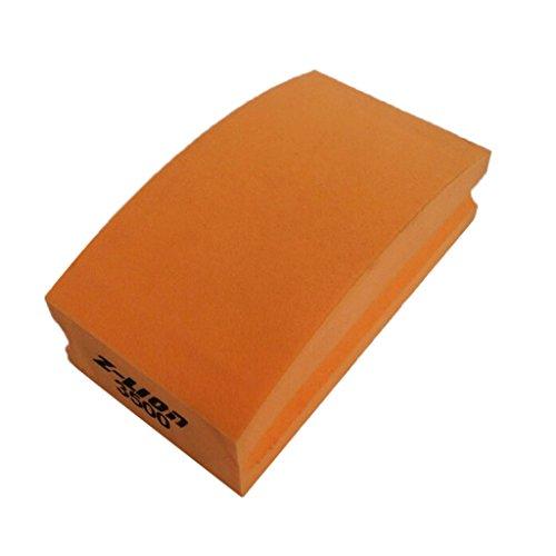 Gazechimp Schleifblock Handschleifer Polierblock Polierflächen Universalschleifer Steinschleifer für Beton Marmor - Orange