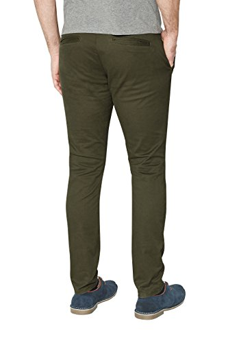 next Homme Coupe Skinny Pantalon Chino Stretch Vert