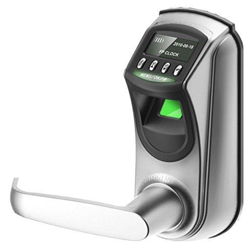 Biometric Locks Fingerprint Electronic lock Digital Code Keypad Door Lock Smart Home Keyless Entry with OLED Display + 2pcs of Emergency Keys by ZKTeco