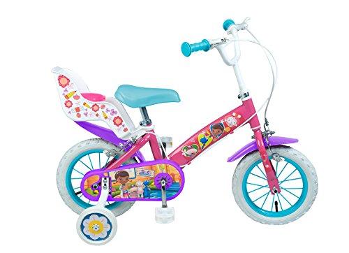"""Toimsa - 630 - Vélo pour Enfant - Docteur La Peluche - Fille - 12"""" - 3 à 5 ans"""