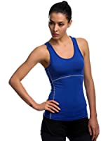 JIMMY DESIGN Damen Tank Top Kompression Sport Shirt - Ärmellos