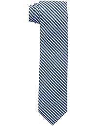 Tommy Hilfiger Men's Nautical Market Stripe Slim Tie, Blue, One Size