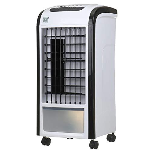 ZZQ Haushaltsluftkühler stummschalten energiesparende tragbare Klimaanlage sowie Wasser Fan Befeuchtung Lüfter Verdunstungsluft,Black,Remote - Fan Schwarz Honeywell