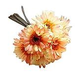 Unechte Blumen,Ronamick Künstliche gefälschte Blumen Blatt Magnolia Blumen Hochzeit Bouquet Party Home Decor (E)