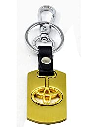 Faynci Premium Quality Metallic Swinging Toyota Logo Keychain With Chrome Metal Locking Key Chain