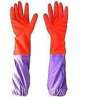 A manica lunga con fascio di luce in velluto da bucato Antiskid Gloves-Guanti impermeabili per lavastoviglie per uso domestico