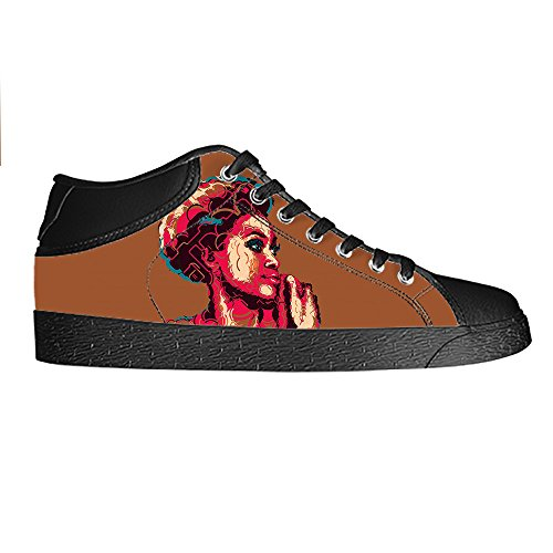 dalliy African woman Mens Canvas Shoes Chaussures Lace Up High Top pour Sneakers Toile Chaussures de chaussures de toile chaussures de sport A