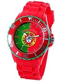 Montre bracelet silicone Viper couleur drapeau modèle sport , choisir:UR-POR Portugal