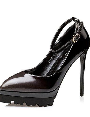 GS~LY Damen-High Heels-Kleid-Kunstleder-Stöckelabsatz-Absätze / Spitzschuh / Geschlossene Zehe-Schwarz / Rosa / Rot / Burgund burgundy-us5.5 / eu36 / uk3.5 / cn35