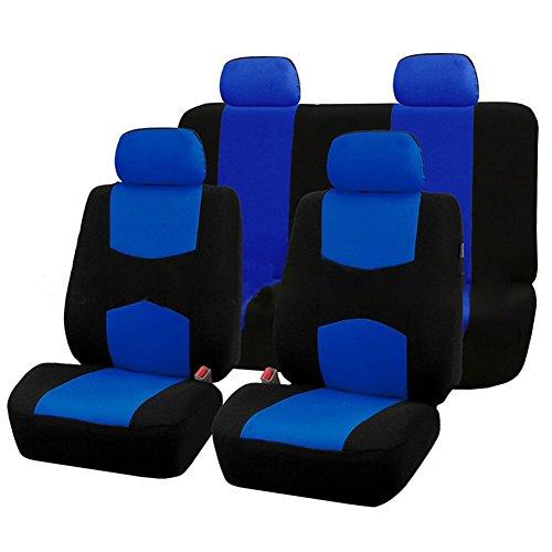 Rabusion 9 Pezzi coprisedili per Auto Set per 5 posti Auto Universale Applicazione 4 Stagioni Disponib