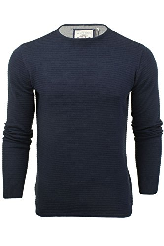 Hommes Pull Brave Soul 'Hubble' Col Rond Dark Navy