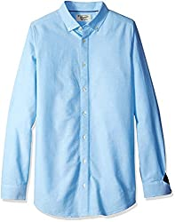 Original Penguin Mens Big and Long Sleeve Oxford Button Down Shirt, Estate Blue, Large Arge/Tall