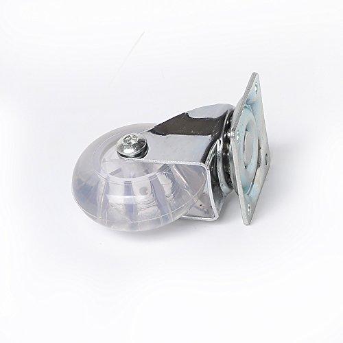 41ZMCGSZUML - Ruedas Giratorias de Mueble Swift Transparente Con Placa de Montaje Juego de 4 40 mm
