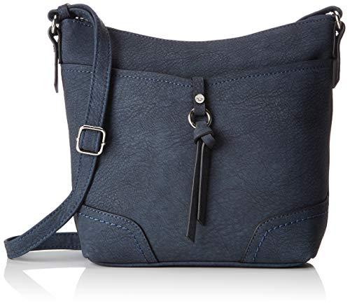 TOM TAILOR für Frauen Taschen & Geldbörsen Umhängetasche IMERI dark blue cognac, OneSize