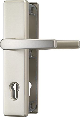 ABUS 421121 Tür-Schutzbeschlag HLS 214 DD F2 mit beidseitigem Drücker, neusilber