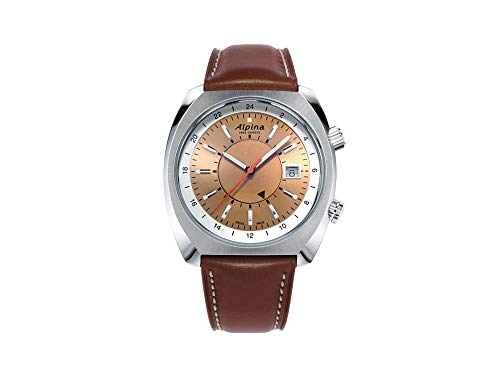 Alpina Geneve Startimer Pilot Heritage Automatic GMT AL-555RGS4H6 Reloj Automático para Hombres