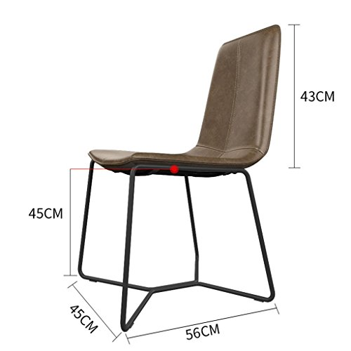 ChunSe Stuhl Hocker, Bein mit Metall Retro Hocker Bar Sitzsystem Sitz, Küchenhocker Theke Bar Buffet Frühstücksbar, Höhe 45 cm / 55 cm / 65 cm / 75 cm / 85 cm, B, 45 cm - Neue Bar Hocker Stuhl