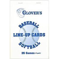 Glovers Scorebooks Baseball/Softball Line-Up Cards, Large (5.5x 8.5, 4 part)