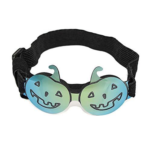 Hundebrille für UV-Schutz Sonnenbrillen Winddicht mit verstellbarem Band für Welpen Doggy Cat (Color : Green) ()