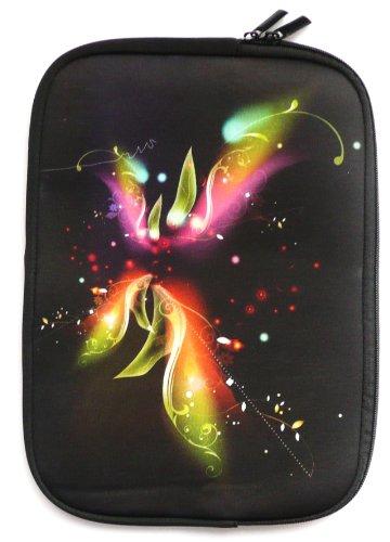 Emartbuy® Fantasy Blumen Water Resistant Neopren Soft Zip Case Cover geeignet für MSI GE62-6QD161 15.6 Zoll Notebook ( 15-16 Zoll Laptop / Notebook / Ultrabook )