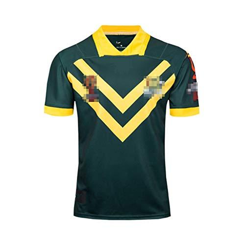 ZSZKFZ Weltmeisterschaft Australian Heim- Und Auswärts Rugby Kleidung, Rugby Kleidung (Color : Green, Size : XXL)