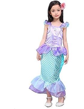 Kinder Baby-Kleidung Mermaid-tail Fancy Rüschen Hülsen-Kleider Prinzessin Ariel Bling Cosplay Halloween-Kostüm-Weihnachtsparty-Kleider