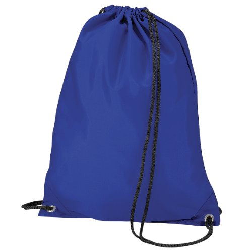 Imagen de bagbase   saco o de cuerdas impermeable/resistente al agua modelo budget deporte/gimnasio 11 litros  talla única/azul