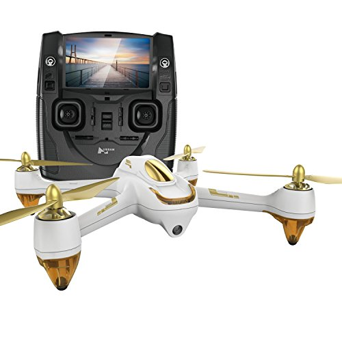 Hubsan H501S X4 Brushless FPV GPS Quadrocopter 5.8 Ghz Drohne mit 1080P Shining HD Kamera und Ensue-Me Modus RTH-Funktion Weiß&Gold