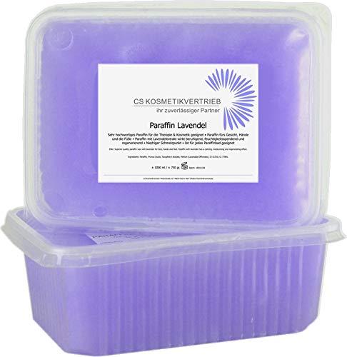 ♛ Paraffinwachs für das Paraffinbad Lavendel im Set 2x 1000ml 750g - 1,5kg zum nachfüllen