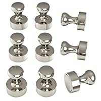 MAGNERDS 9 Pieces N52 Neodymium Fridge Magnets - Industrial Strength Magnetic Pins for Home & Office Use